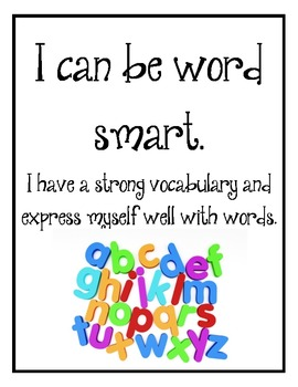 Ways I Can Be Smart Posters