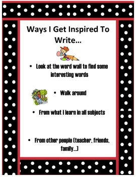 Ways I get Inspired to Write Poster