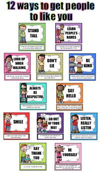 Ways To Get People To Like You - Bulletin Board Display