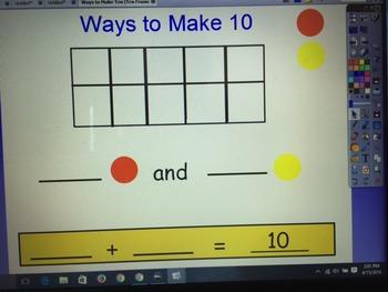 Ways To Make Ten (Ten frame activity)