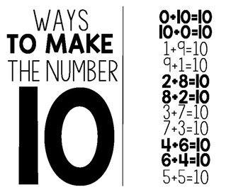 Ways To Make The Number 10