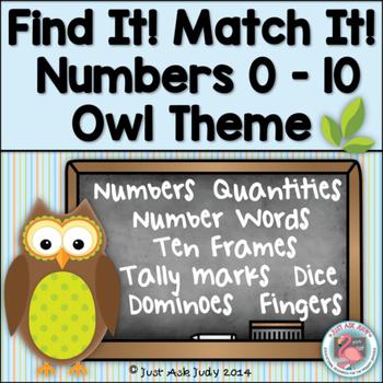 Number Sense Activity 0-10 Owl Theme