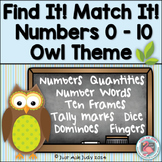 Number Sense Activity 0-10 Owl Theme