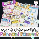Ways To Show Numbers 0-10 Pennant Banners