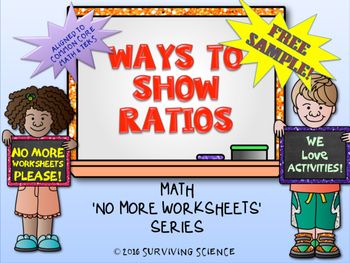 FREE!  Ways To Show Ratios ( A No More Worksheet Activity)