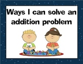 Ways To Solve Addition and Subtraction Problems Posters!
