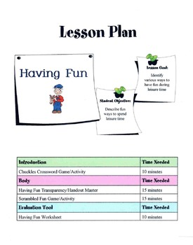 Ways To Spend Leisure Time & Have Fun Lesson
