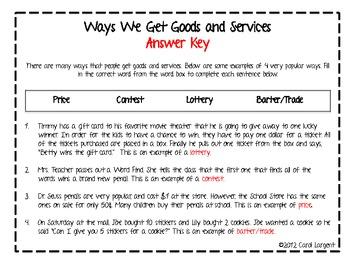 Ways We Get Goods and Services