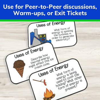 Forms of Energy Activity: FREE  Discussion Cards