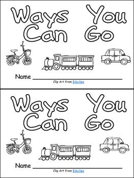 Ways You Can Go- Nonfiction Leveled Reader- Level B Kinder