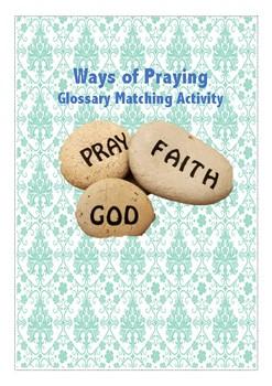 Ways of Praying Glossary Matching Activity