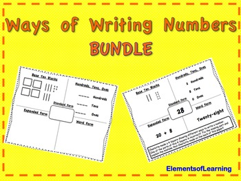 Ways of Writing Numbers Bundle