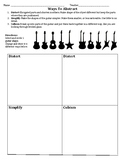 Ways to Abstract-Guitars Drawing Activity