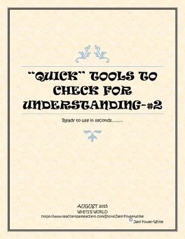 Ways to Check for Understanding-#2