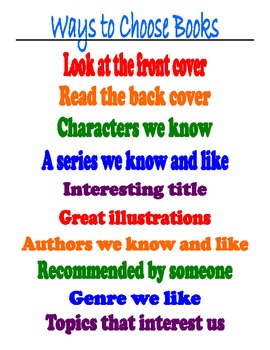 Ways to Choose Books Poster