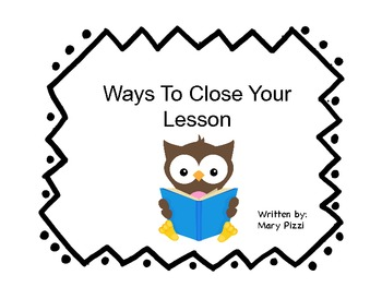 Ways to Close a Lesson