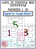 Ways to Compose and Decompose Numbers 1-10 Sort for Google