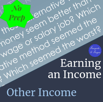 Ways to Earn an Income Class Notes and Activities (Earning an Income)