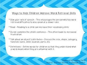 Ways to Help Children Improve Word Retrieval Skills