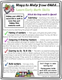 Ways to Help Your Child Learn Early Math Skills Parent Handout