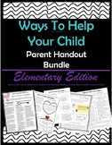 Ways to Help Your Child Parent Handout Bundle