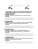 Ways to Hook your Reader- Worksheet
