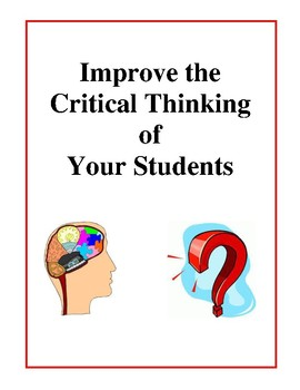Improve the Critical Thinking of Your Students