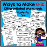 Ways to Make 0-10: Differentiated Worksheets