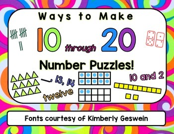 Ways to Make 10-20 Number Puzzles