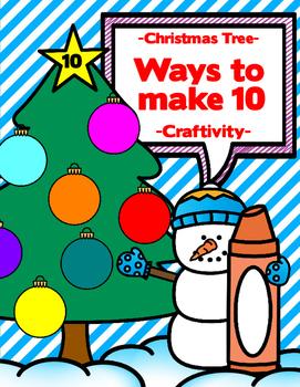 Ways to Make 10 - Christmas Tree Craftivity