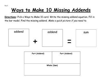 Ways to Make 10 Fact Pack-EDITABLE!