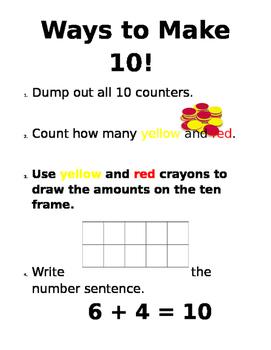 Ways to Make 10! Math Station