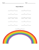 Ways to Make 10 Rainbow Worksheet