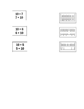 Ways to Make 10 and Double Ten Frame Math Assessment