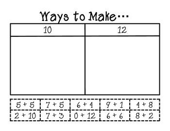 Ways to Make - Addition Number Sentences