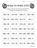 Ways to Make 200! Math Number Sense Worksheet