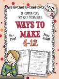 Ways to Make 4-12 Printables (No-Prep)