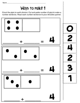 ways to make 4 math composing number worksheet by kitty kitty kindergarten. Black Bedroom Furniture Sets. Home Design Ideas