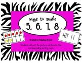 Ways to Make 5, 6, 7, & 8 {Math Center}