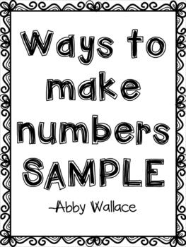 Ways to Make 5 (Sample)