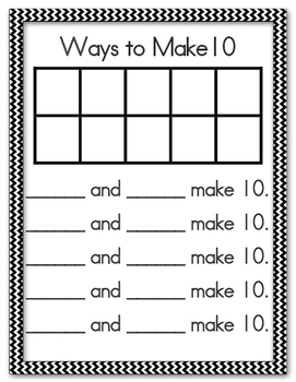 Ways to Make 5 and 10
