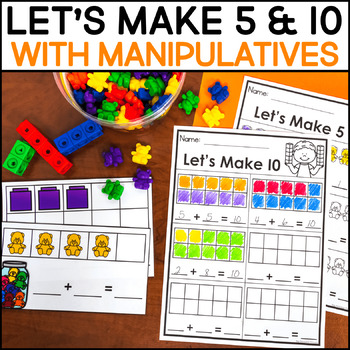 image relating to Making 10 Games Printable called Methods toward Create 5 and 10 - Taking Clroom Manipulatives