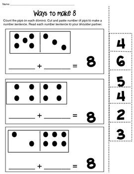 Ways to Make 6,8 and 10 math composing number worksheet