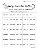 Ways to Make 900!!  Number Sense Practice Worksheet