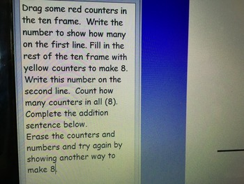 Ways to Make Eight (Ten Frame Activity)