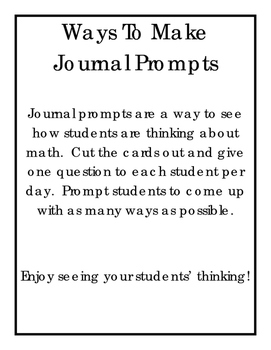 Ways to Make Journal Prompts