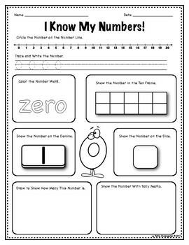 Ways to Make Numbers 0-20 Worksheets