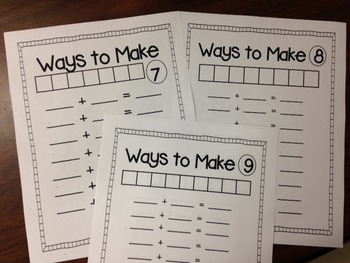 Ways to Make Numbers 1-10 Activities!