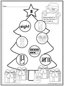 Ways to Make Numbers 1-10 Christmas Trees