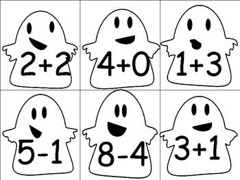 Ways to Make Numbers 1-10:  Matching Game
